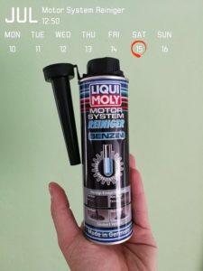 Produkttest Liqui Moly Motor System Reiniger Benzin Additiv für ein längeres Motorloeben